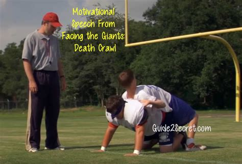 Facing The Giants 2 by Motivational Speech From Facing The Giants Crawl