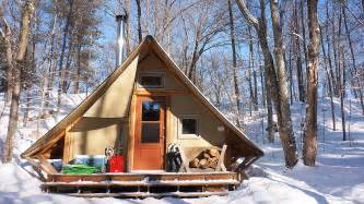 Plans For Cottages And Small Houses 270 Sq Ft Off Grid Prospector Style Tent