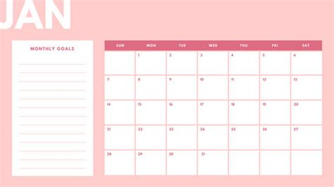 canva monthly planner pastel 2018 monthly calendar templates by canva