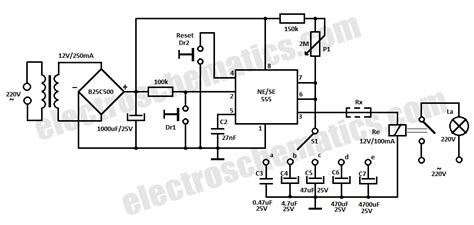 time delay relay circuit diagram time delay relay circuit with 555