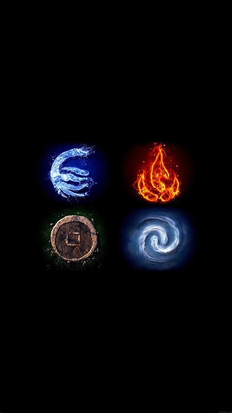 wallpaper iphone element avatar the last airbender the four elements wallpaper for