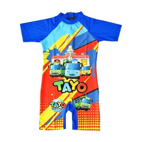 Baju Anak Tayo jual baby motif tayo baju renang anak tk biru