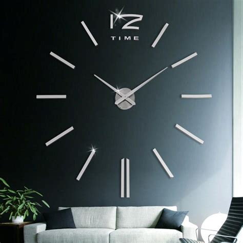 home decor for sale luxury large wall clock 3d sticker big 3d diy extra large luxury mirror wall sticker clock home