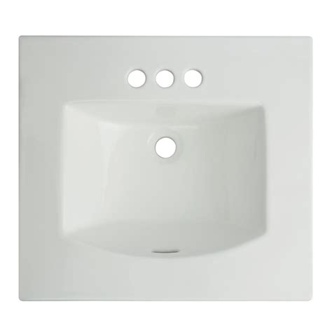 glacier bay drop in bathroom sink glacier bay retro square drop in sink in white 13 0078 4w