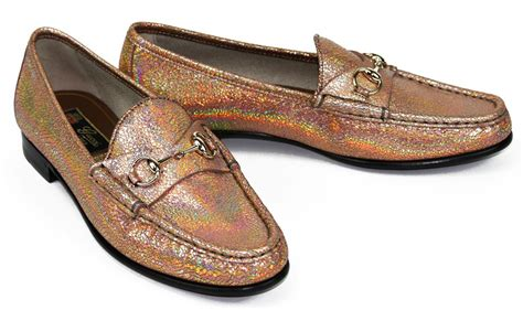 holographic loafers new gucci 625 cracked metallic holographic effect shoes