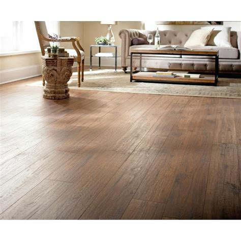 Distressed Hickory Laminate Flooring Home Depot - home decorators collection distressed brown hickory 12 mm