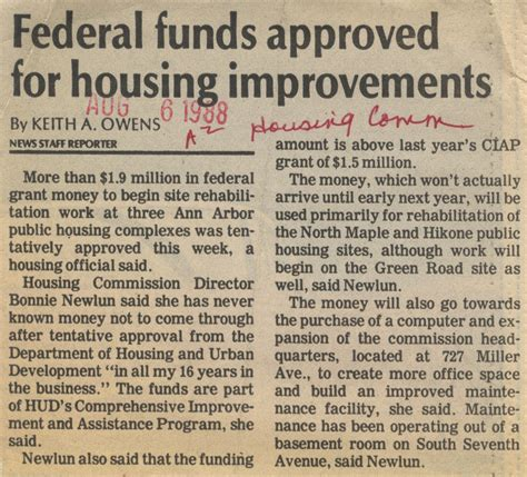 comprehensive improvement assistance program news
