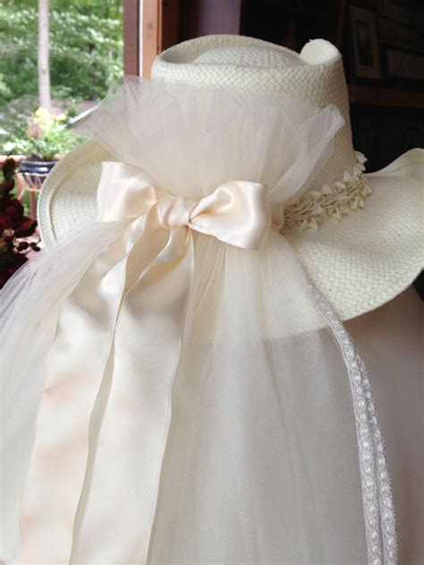 wedding cowboy hats with veils on sale ivory bridal cowboy hat veil for by tullehatcompany