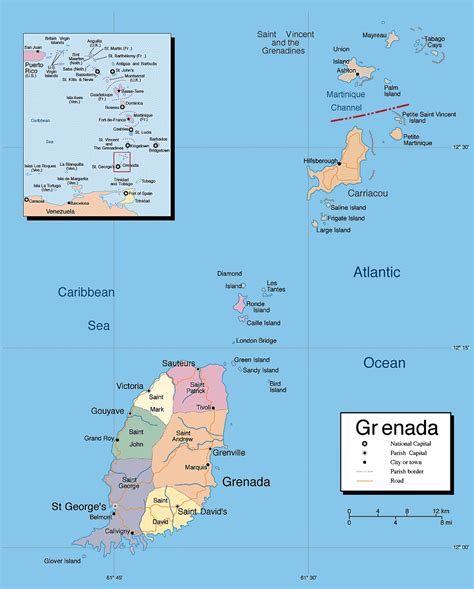 where is grenada on a map maps of grenada map library maps of the world
