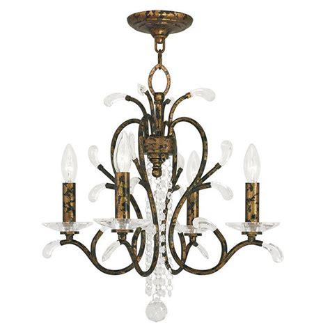 Bronze Mini Chandelier Livex Lighting Serafina 5 Light Venetian Golden Bronze Mini Chandelier 51004 71 The Home Depot