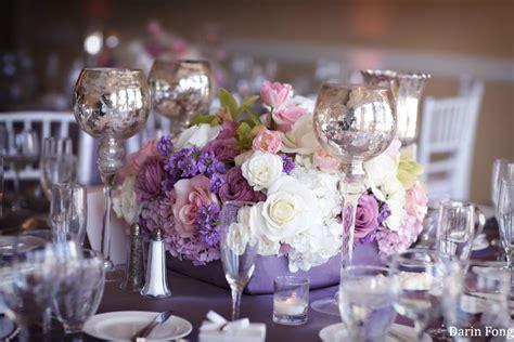purple silver wedding
