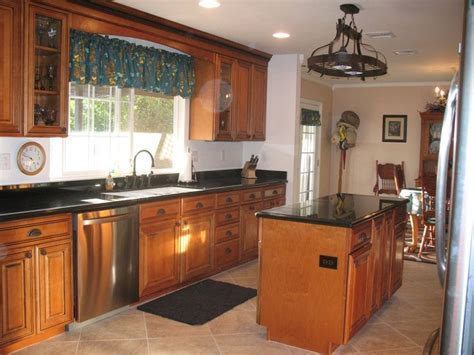 marble countertops with hickory cabinets   Maple Whiskey
