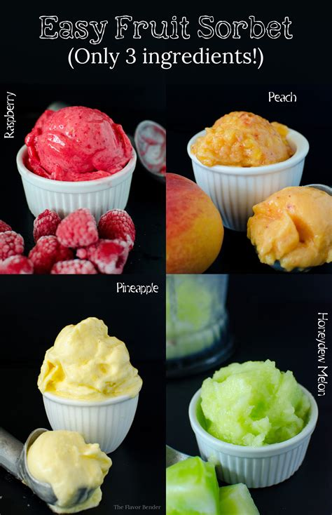 fruit o ingredients easy fruit sorbet only 3 ingredients and so many flavors
