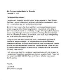 coworker recommendation letter 10 free word pdf