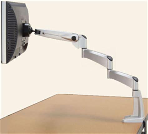 dbs swing arm workrite sa1500 db extended flat panel swing arm desk mount