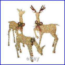 christmas outdoor lighted deer family holiday light decorati 3 lighted deer family decoration dcor decor world