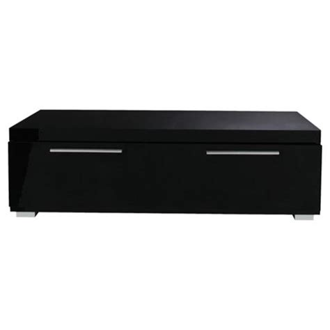 buy milan coffee table with chrome handles black high