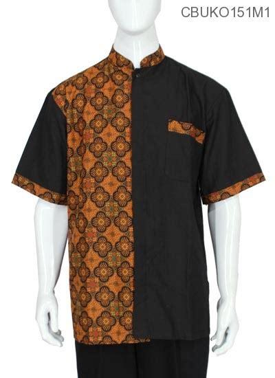 koko batik jumbo katun motif ceplok kemeja lengan pendek