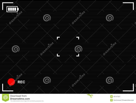 Background Recording S Viewfinder Background Stock Vector Image 40147527