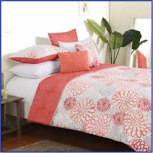 coral colored coverlet coral and tan bedding sets home design ideas