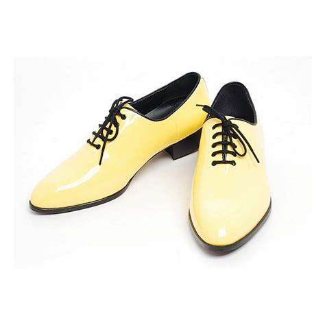 yellow dress shoes mens ready made by oxfords 1 57 inch heel dress shoes