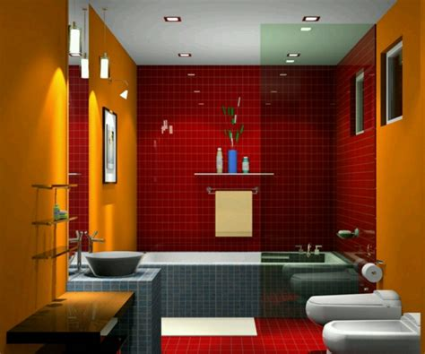 rote fliesen badezimmer rote wand 50 ideen mit wandfarbe rot archzine net