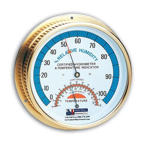Thermometer Hygrometer premium brass wall hygrometer and thermometer mitchell instrument company