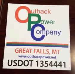 Power Company Outback Power Company Magnets Montana Grafix Llc