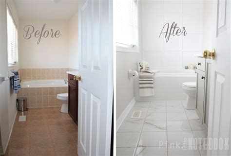 how to paint bathroom tile floor how to transform an bathroom with diy tile painting