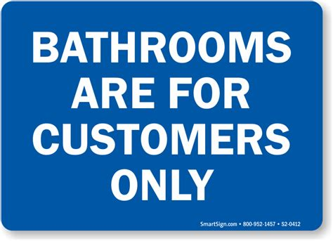 bathroom for customers only sign