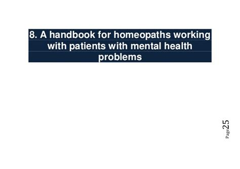 Mba Handbook For Healthcare Professionals by Study Of Homeopathy Trust Funded Projects