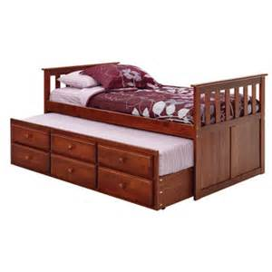 chelsea home captain bed with trundle and storage
