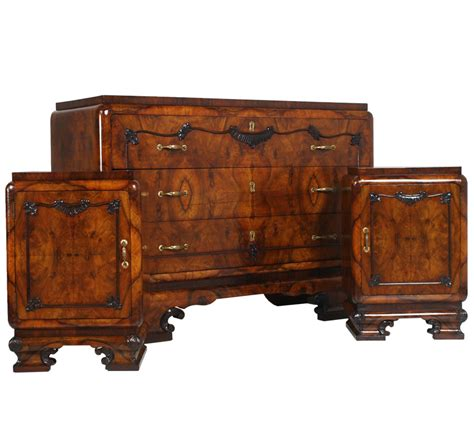 antique deco bedroom furniture antique deco furniture set 1930s italian bedroom mah73 antiques artistic