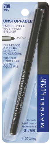 Maybelline New York Unstoppable Eyeliner maybelline new york unstoppable eyeliner carded jade 0 01 ounce health personal care