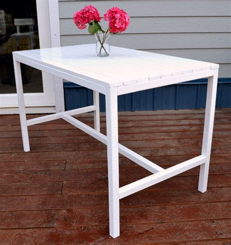 Outdoor Patio Table Plans White Harriet Outdoor Dining Table For Small Spaces Diy Projects
