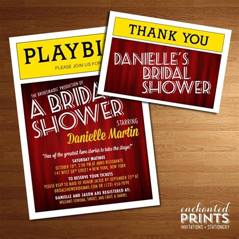 broadway playbill invitation theater themed nyc
