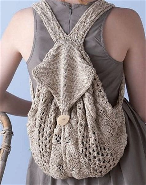 knitted backpack crochet knitted backpack by boho crochet