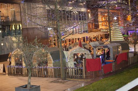 Bar Hutte Manchester 2016 by Bar Hutte Opens In Spinningfields Complete With Carol