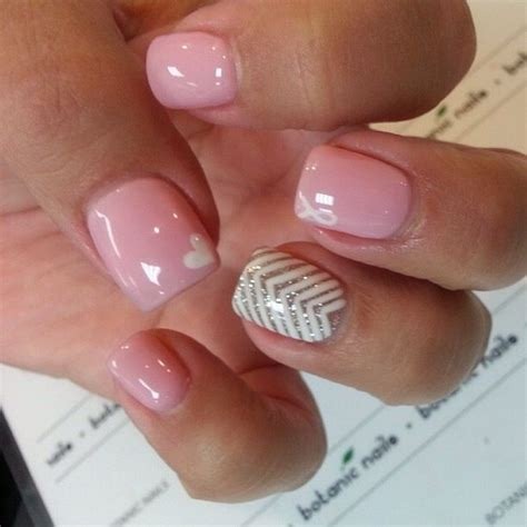 shellac pattern nails loving the pink shellac with little hearts on cute