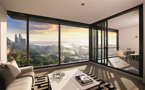 interior design apartment with city view desktop wallpaper modern apartment interior design panoramic window hd