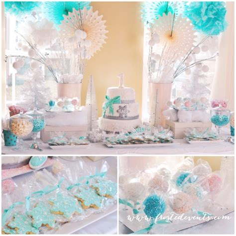 party themes in winter winter wonderland first birthday party