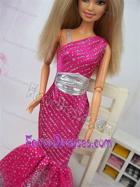 Luxurious Mermaid Asymmetrical Hot Pink Beaded Over Skirt Party Clothes Fashion Dress For Noble