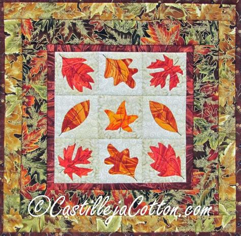 collection of fall leaves autumn leaf quilts