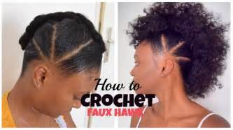 crochet hair mohawk pattern how to crochet faux hawk with overthetophaircollection