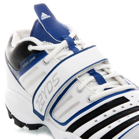 adidas twenty2 yds mid iv mens cricket shoes white black blue sportitude