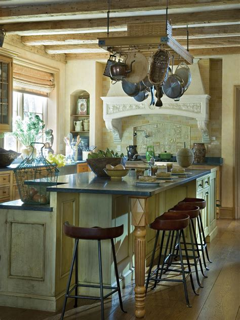 Kitchen Island Hanging Pot Racks small kitchen layouts pictures ideas amp tips from hgtv hgtv