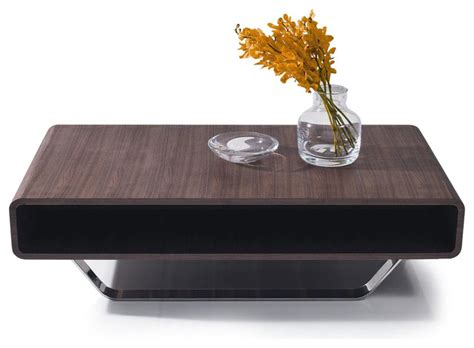 Modern Rectangular Coffee Table Contemporary Walnut Veneer Rectangular Coffee Table Ozu Modern Coffee Tables Other Metro