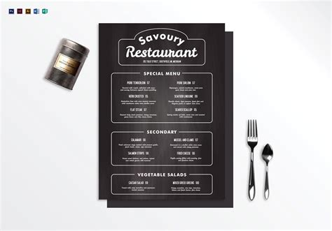 Restaurant Menu Publisher Template