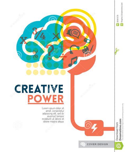 idea design art creative brain idea concept background design layout stock
