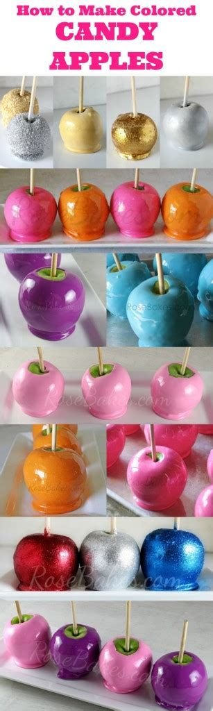How To Make Candy by Candy Apples Rose Bakes